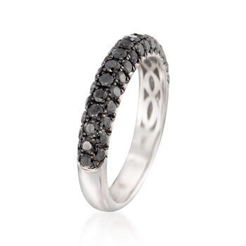 Henri Dausi 1.00 ct. t.w. Black Diamond Band in 14kt White Gold, , default
