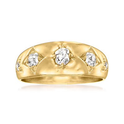 C. 1920 Vintage .55 ct. t.w. Diamond Ring in 15kt Yellow Gold