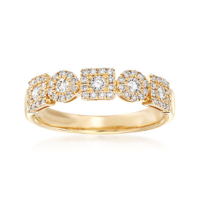 .51 ct. t.w. Diamond Circles and Squares Ring in 14kt Yellow Gold, , default