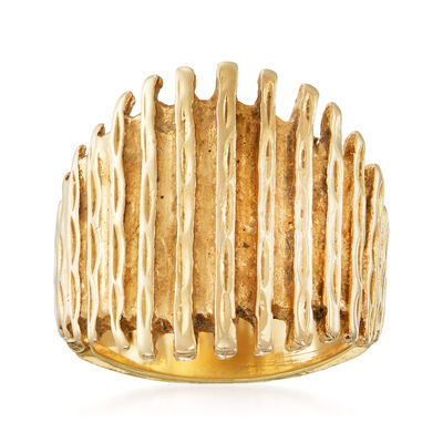 C. 1980 Vintage 14kt Yellow Gold Fashion Ring, , default