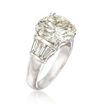 Majestic Collection 6.73 ct. t.w. Diamond Ring in 18kt White Gold. Size 7, , default