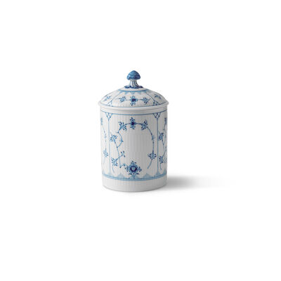"Royal Copenhagen ""Blue Fluted Plain"" Porcelain Jar with Lid"
