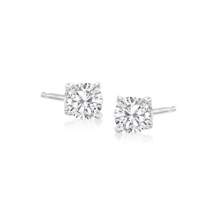 .33 ct. t.w. Diamond Stud Earrings in 14kt White Gold