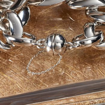 "Andiamo Sterling Silver Oval Link Bracelet. 8"", , default"