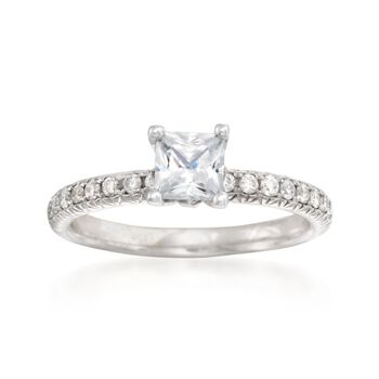 .30 ct. t.w. Diamond Engagement Ring Setting in 14kt White Gold, , default