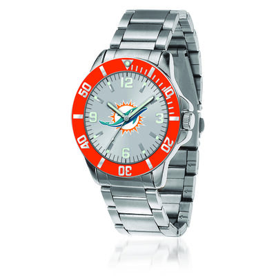 Men's 46mm NFL Miami Dolphins Stainless Steel Key Watch