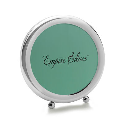 Empire Sterling Silver Round Frame, , default
