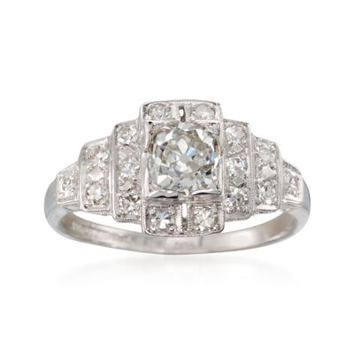 C. 2000 Vintage 1.00 ct. t.w. Diamond Ring in Platinum
