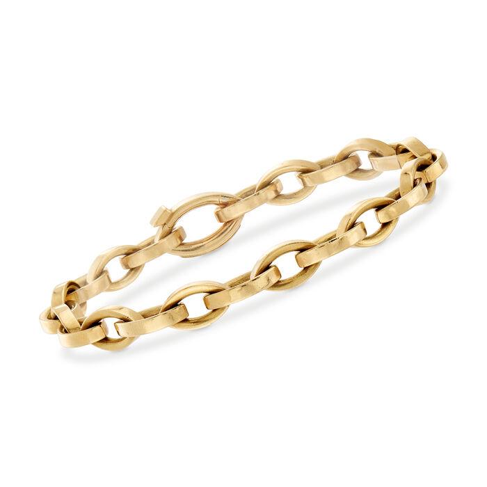 "C. 1980 Vintage Tiffany Jewelry 18kt Yellow Gold Oval-Link Bracelet. 7.5"", , default"