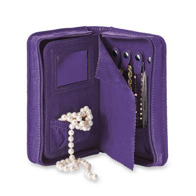Grape Purple Microsuede Travel Jewelry Case, , default