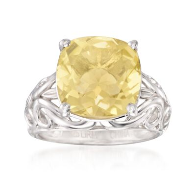 5.50 ct. t.w. Lemon Quartz Ring in Sterling Silver, , default