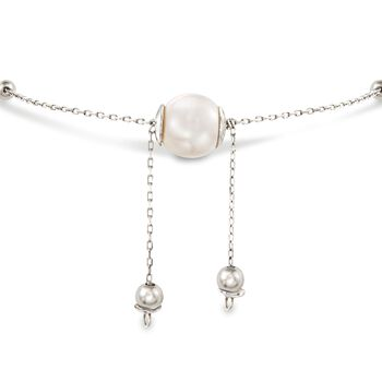 4-9.5mm Cultured Pearl Bolo Bracelet in Sterling Silver , , default