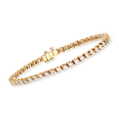C. 1980 Vintage 4.00 ct. t.w. Diamond Line Bracelet in 14kt Yellow Gold, , default