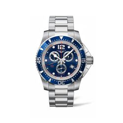 Longines Hydroconquest Men's 47.5mm Chronograph Stainless Steel Watch - Blue Dial, , default