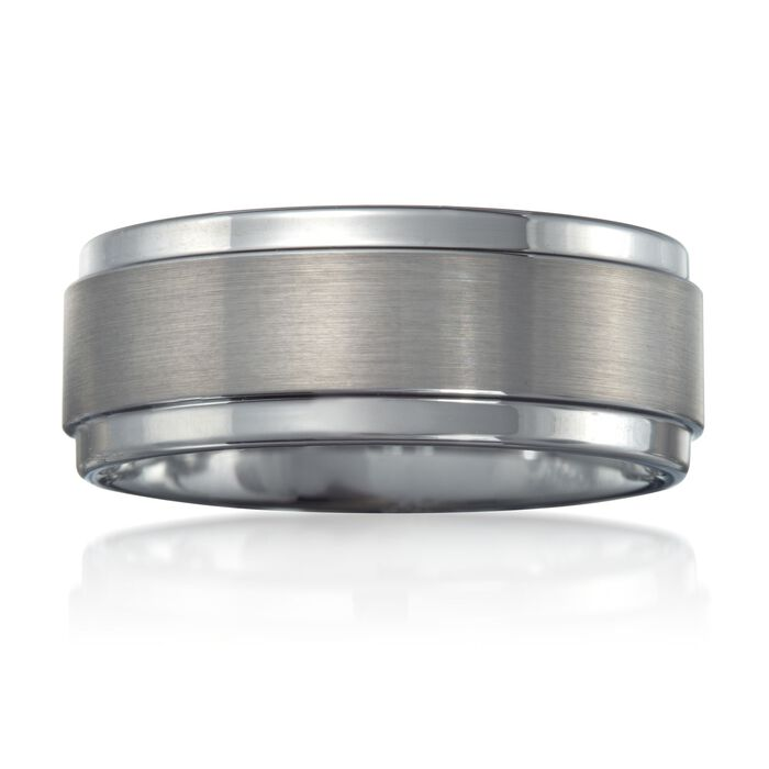 Men's 9mm Tungsten Carbide Wedding Ring, , default