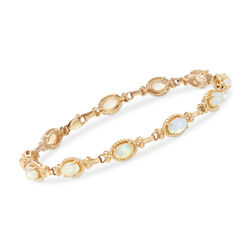 6x4mm Opal Bracelet in 14kt Yellow Gold, , default