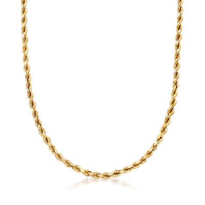C. 1990 Vintage 10kt Yellow Gold Rope Chain Necklace, , default