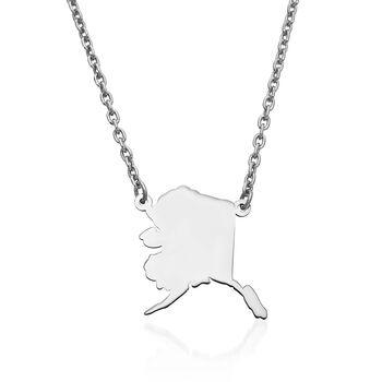 Sterling Silver U.S. State Necklace, , default