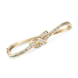 C. 1990 Vintage 1.50 ct. t.w. Diamond Knot Bracelet in 18kt Yellow Gold, , default