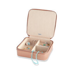 "Mele & Co. ""Gracie"" Sand Suede Travel Jewelry Box, , default"