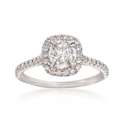 Henri Daussi 1.19 ct. t.w. Diamond Engagement Ring in 18kt White Gold