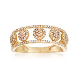 .25 ct. t.w. Pave Diamond Multi-Circle Ring in 14kt Yellow Gold, , default