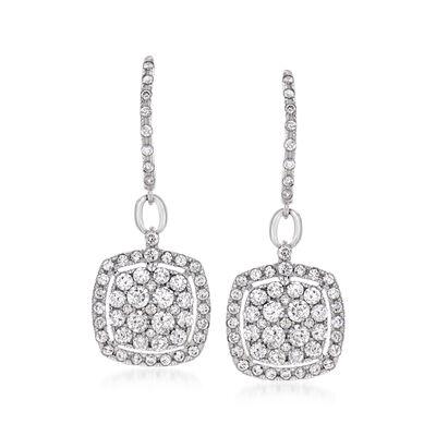 1.00 ct. t.w. Diamond Drop Earrings in 14kt White Gold