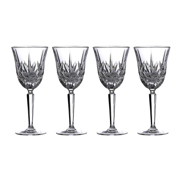 "Marquis by Waterford Crystal ""Maxwell"" Set of 4 White Wine Glasses from Italy, , default"