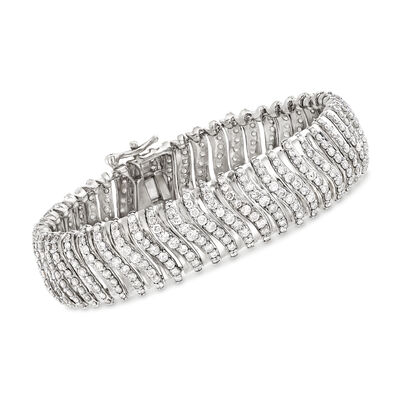 10.00 ct. t.w. Diamond Multi-Row Bracelet in 14kt White Gold, , default