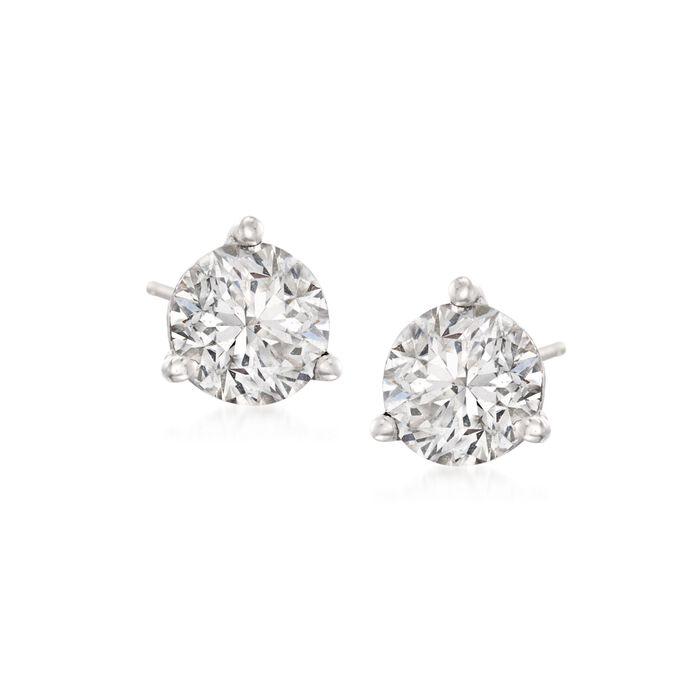 1.50 ct. t.w. Diamond Martini Stud Earrings in Platinum, , default
