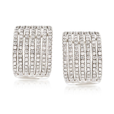 1.75 ct. t.w. Diamond Drop Earrings in 14kt White Gold