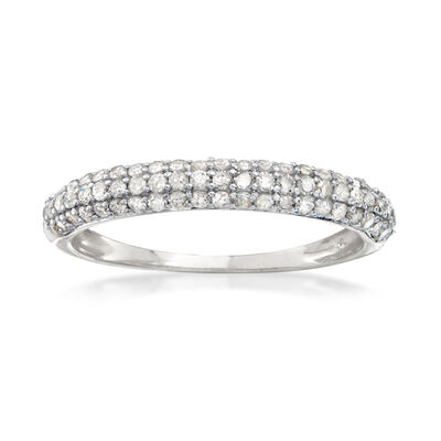 .50 ct. t.w. Pave Diamond Ring in 14kt White Gold, , default