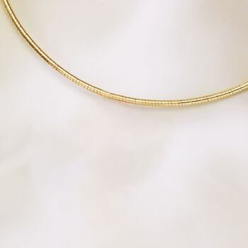 Italian 3mm 18kt Gold Over Sterling Silver Round Omega Necklace, , default