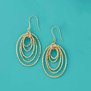 Multi-Oval Drop Earrings in 18kt Yellow Gold, , default