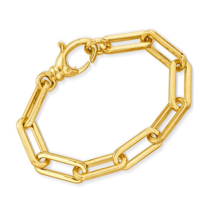 Italian Andiamo 14kt Yellow Gold Paper Clip Link Bracelet