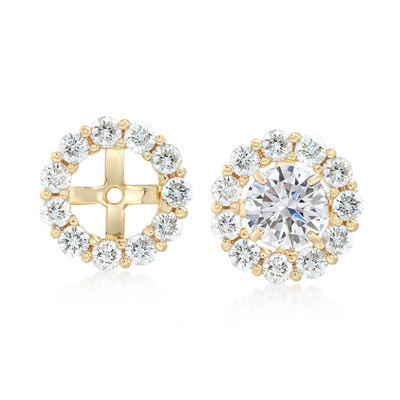 1.50 ct. t.w. Diamond Earring Jackets in 14kt Yellow Gold