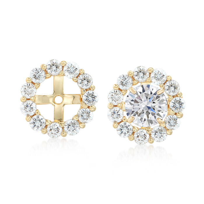 1.50 ct. t.w. Diamond Earring Jackets in 14kt Yellow Gold