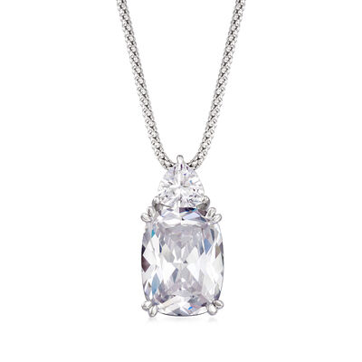 13.75 ct. t.w. CZ Pendant Necklace in Sterling Silver