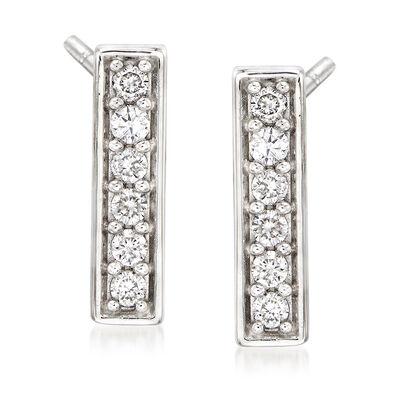.25 ct. t.w. Diamond Bar Drop Earrings in 14kt White Gold, , default