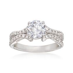 Simon G. .41 ct. t.w. Diamond Engagement Ring Setting in 18kt White Gold, , default