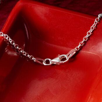 Sterling Silver Large Monogram Necklace, , default