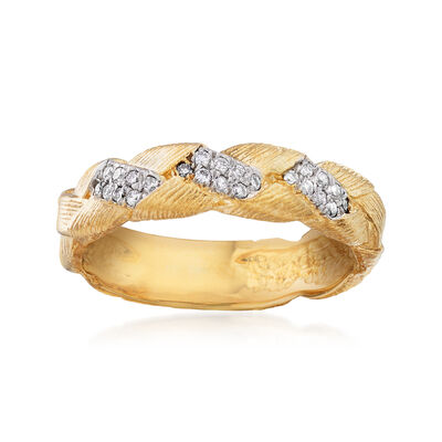 .12 ct. t.w. Diamond Braid Ring in 14kt Yellow Gold, , default