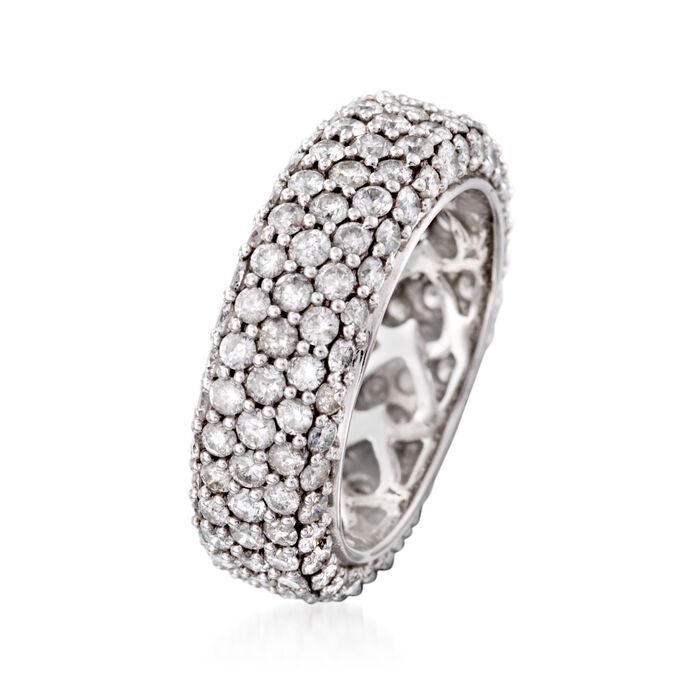 3.76 ct. t.w. Pave Diamond Eternity Band in 14kt White Gold