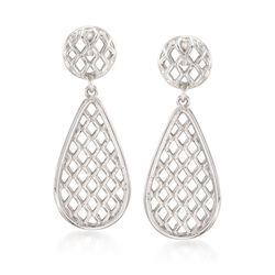 "Zina Sterling Silver ""Trellis"" Drop Earrings, , default"