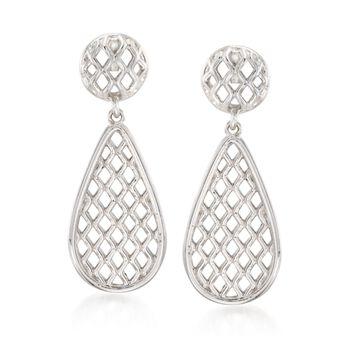 """Zina Sterling Silver """"Trellis"""" Drop Earrings , , default"""