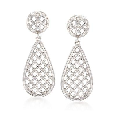 """Zina Sterling Silver """"Trellis"""" Drop Earrings, , default"""