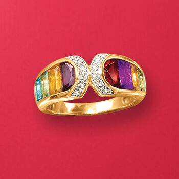 3.20 ct. t.w. Multi-Stone Ring in 14kt Yellow Gold
