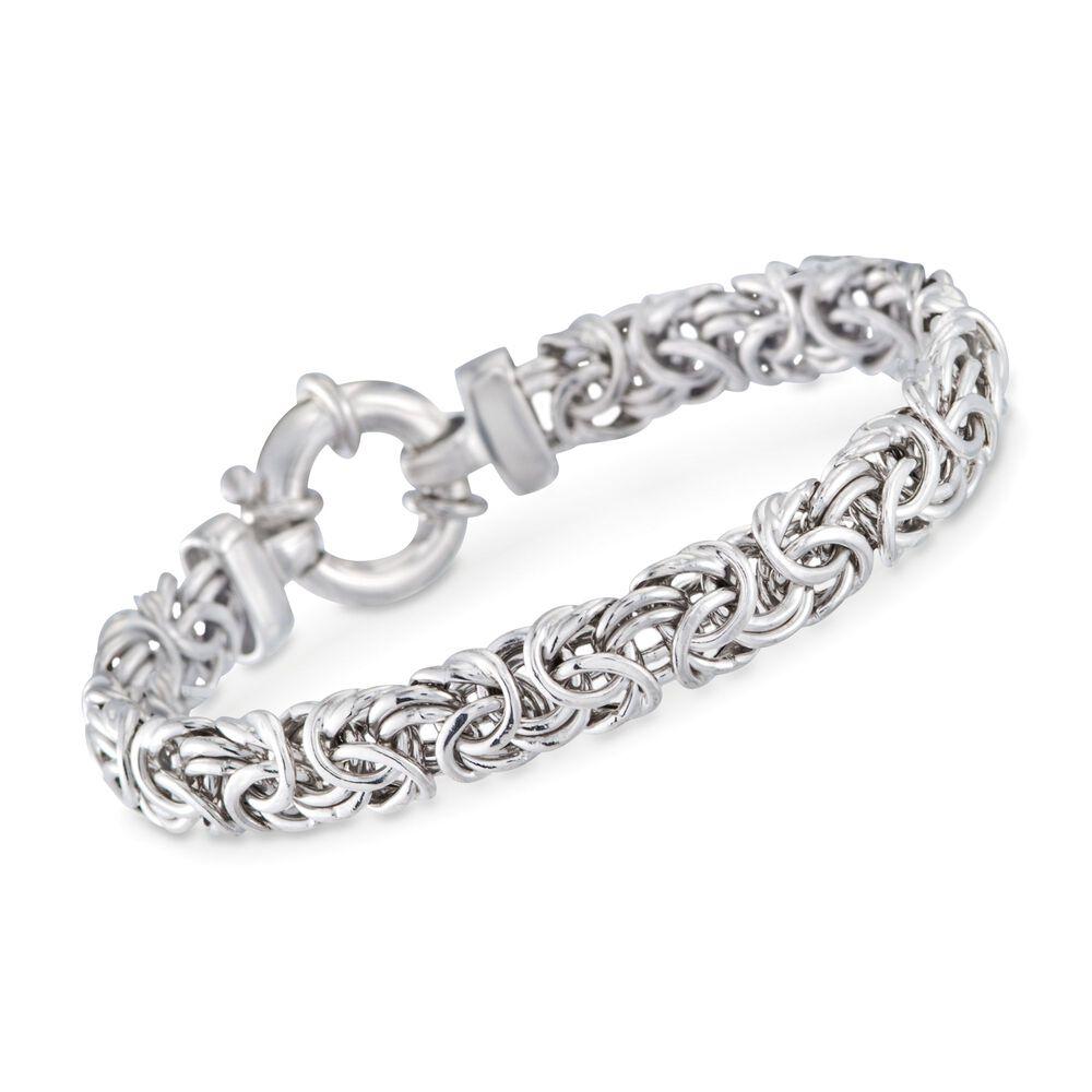 aead6e26340e3 Italian Sterling Silver Medium Byzantine Bracelet   Ross-Simons