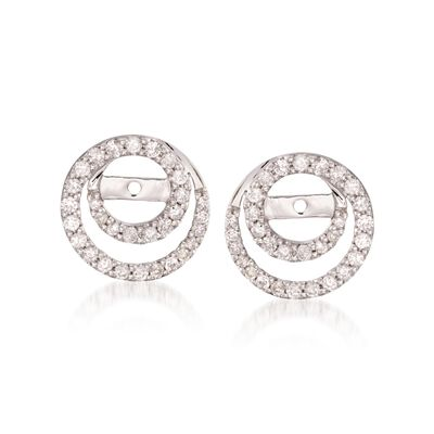 .50 ct. t.w. Diamond Earring Jackets in 14kt White Gold, , default