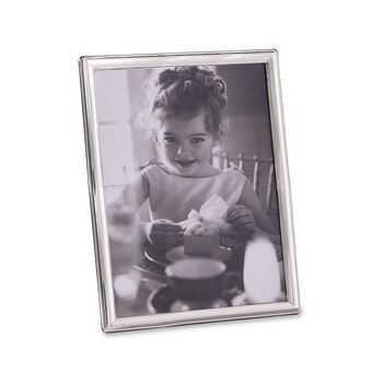 Siena Sterling Silver Roped Photo Frame With Wooden Back, , default